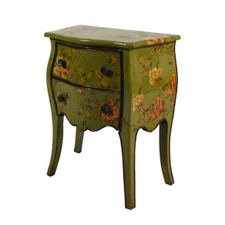 Petite French Commode with Floral Motif