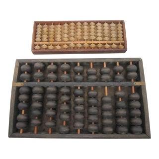 Vintage Wooden Abacuses - A Pair