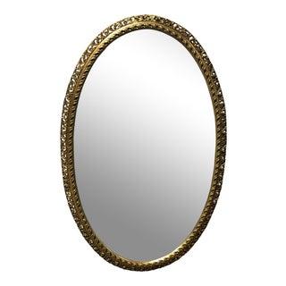 Oval Orante Gold Framed Mirror