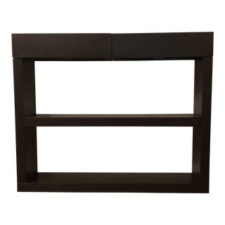 West Elm 2 Drawer Ebony Console