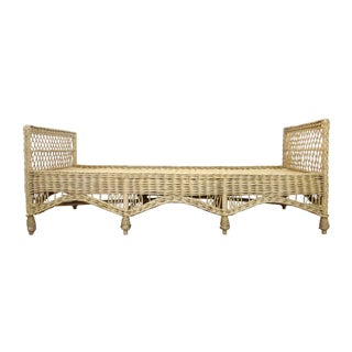 Vintage Wicker Rattan Daybed by Bar Harbor