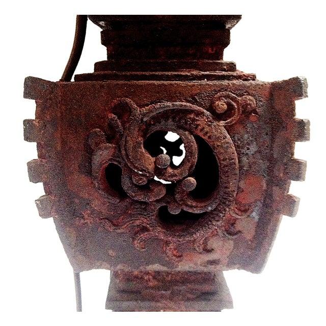 Qing Dynasty Iron Gu Vase Lamps - Pair - Image 5 of 11