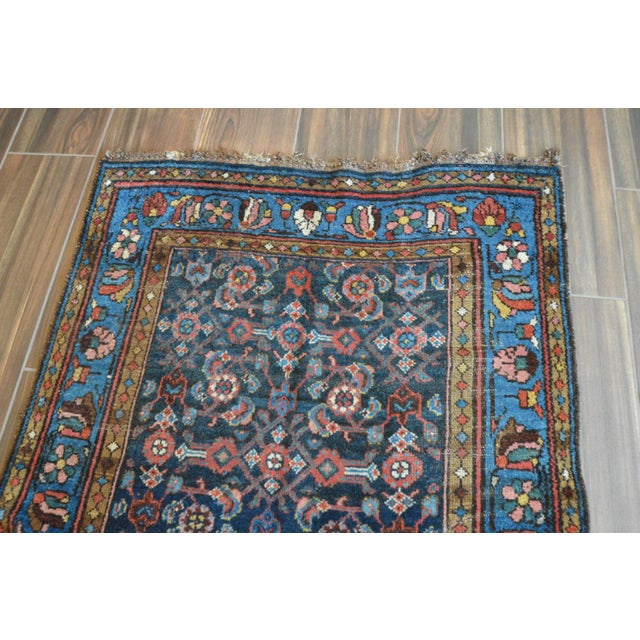 Antique Persian Hand Woven Runner- 3′10″ × 9′7″ - Image 10 of 11