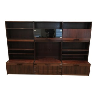 Danish Mid-Century Modern 3-Section Rosewood Bookcase