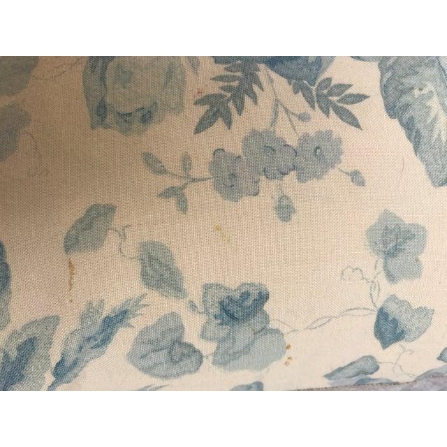 Ralph Lauren Blue & White Rose Patterned Pillow - Image 3 of 8