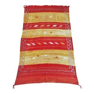 Moroccan Cactus Silk Sabra Rug or Textile - 2′9″ × 4′8″