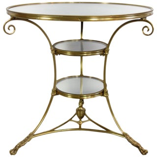 Mirrored Brass Bistro Table from Bruges, Belgium, circa 1970