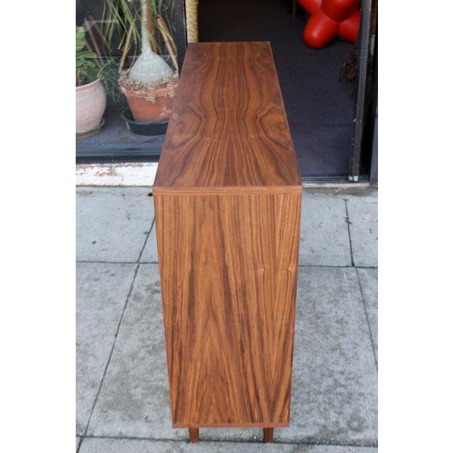 Modern Walnut Bookcase Shelf - Image 4 of 10