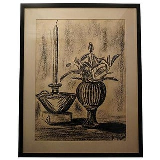 Ann Pollock Still Life Charcoal Drawing