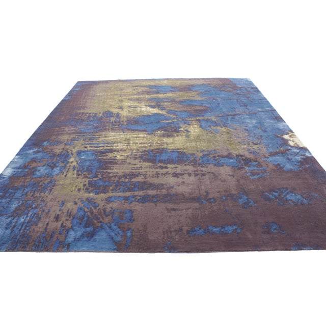 """Contemporary Abstract Scratch Texture Rug - 8'7"""" x 9'11"""" - Image 4 of 7"""