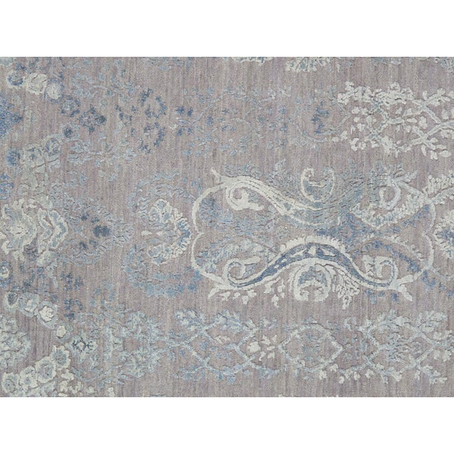 "Image of Pasargad Transitiona Silk & Wool Rug- 8'11"" x 12'"