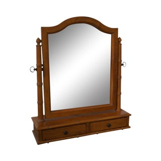 Ethan Allen Faux Bamboo Table Top Vanity Mirror