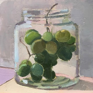 Grapes in a Jar Original Oil Painting