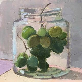 Grapes in a Jar Original Oil Painting