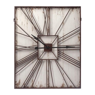 Large Rectangular Antique Wall Clock