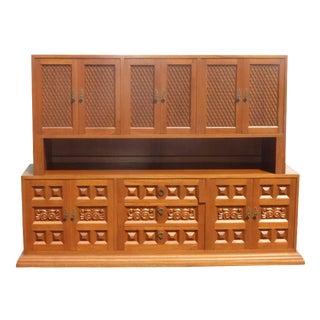 Mid-Century Teak Credenza Sideboard Cabinet