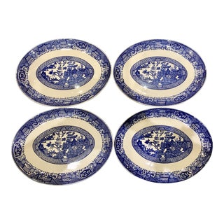 Vintage Chinoiserie Style Plates - Set of 4