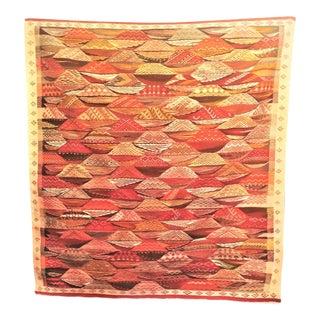 Moroccan Kilim Flat Weave Berber Zanafi Tribe Area Rug