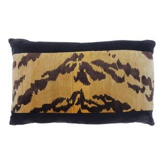 Velvet Tiger Stripe Pillow