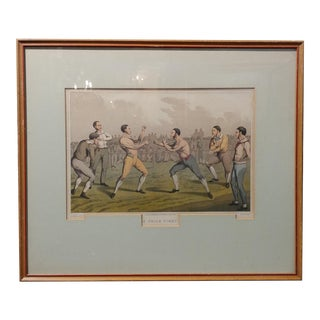 19th Century Antique English Boxing Print