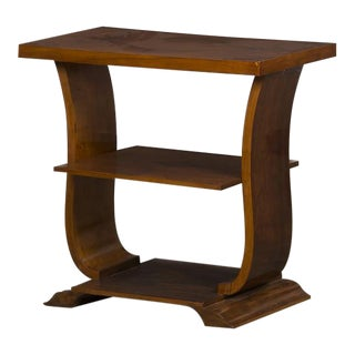 Vintage French Art Deco Period Walnut Side Table, Paris circa 1940
