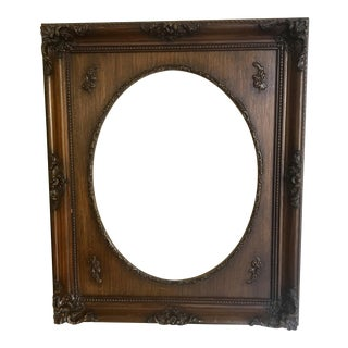 Antique Oval Carved Wood Frame