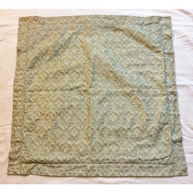 Image of Aged Fortuny Fabric Euro Shams - Pair