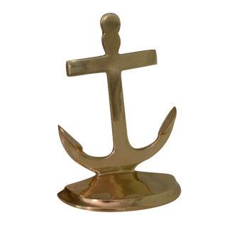 Brass Anchor Doorstop