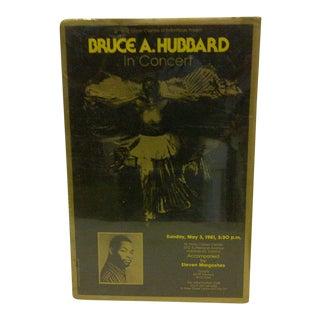 Vintage Bruce A. Hubbard Concert Poster