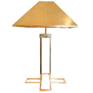 Signed Curtis Jere Brass Table Lamp