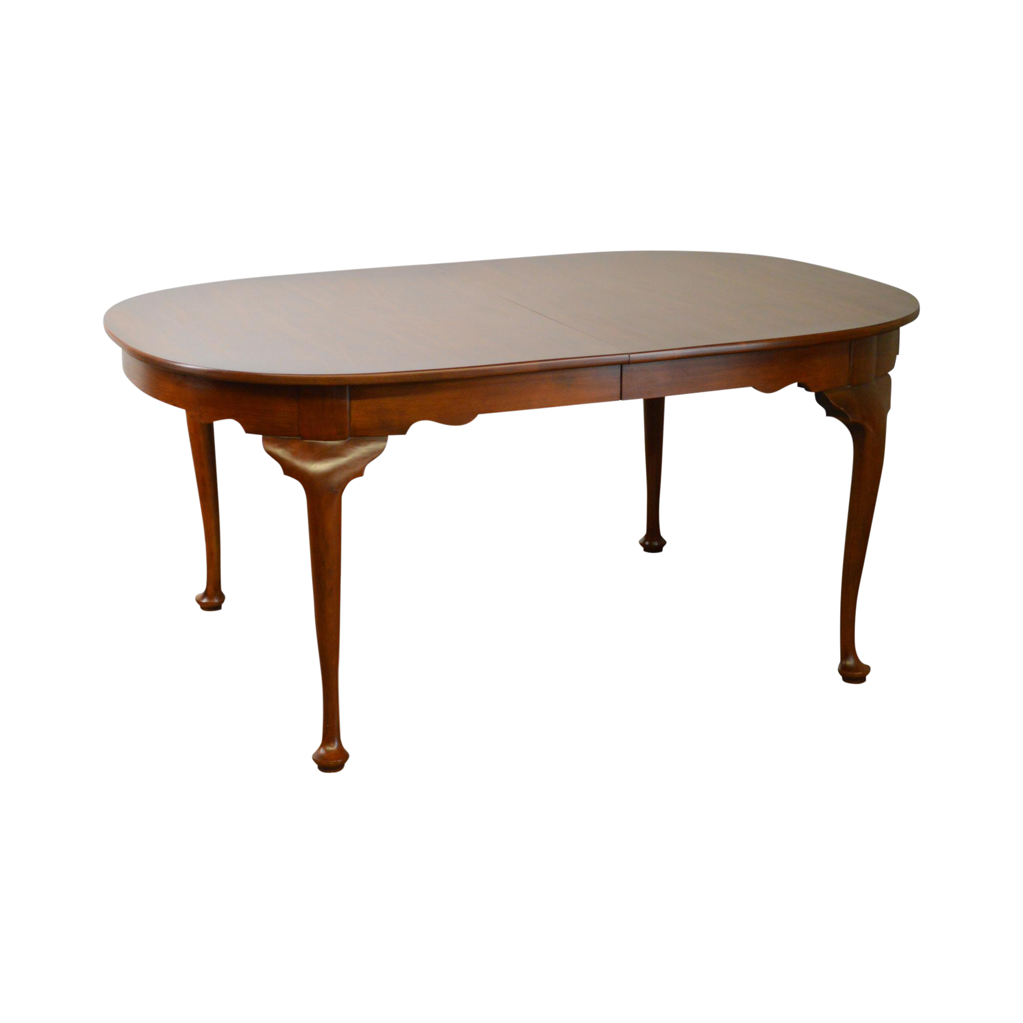 Henkel Harris Solid Cherry Oval Queen Anne Dining Table