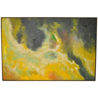 Vintage Abstract Oil Painting C.1969