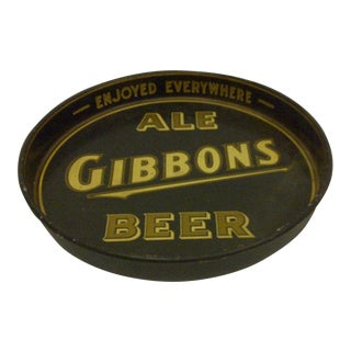 Vintage Gibbons Ale Beer Beverage Serving Tray