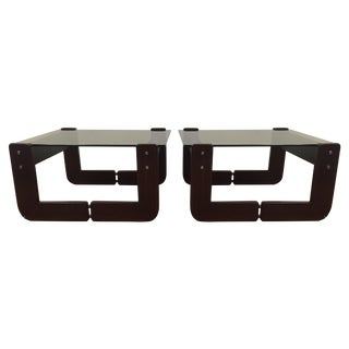 Percival Lafer Jacaranda End Tables - A Pair