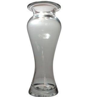 Signed Steuben Crystal Glass Vase