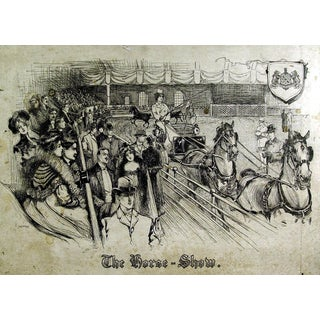 "Edwardian Era ""The Horse Show"" Lithograph"