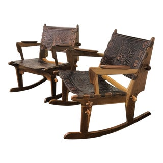 Angel Pazmino Mid-Century Modern Rocking Chairs - A Pair