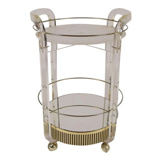Mid-Century Rolling Lucite Bar Cart