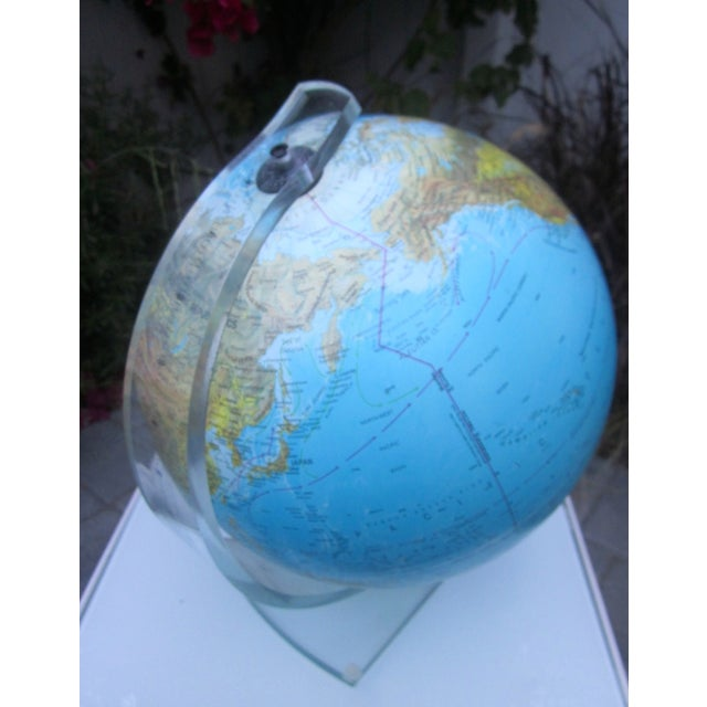 Vintage Globe with Thick Lucite Base - Image 6 of 9