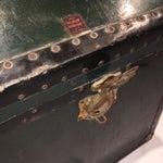 Image of Vintage Hunter Green Steamer Trunk