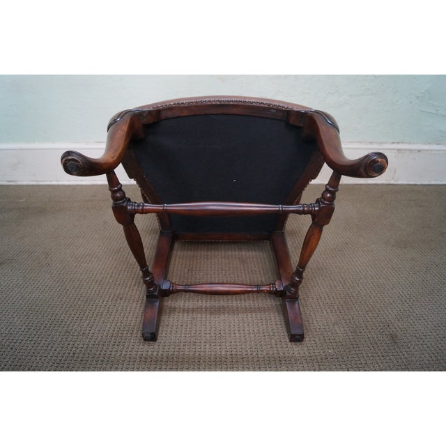 Lillian August 18th Century Leather Arm Chair - Image 8 of 10