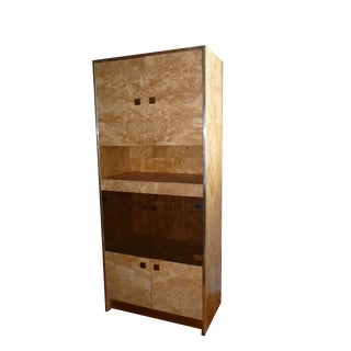 Mid-Century Modern Founders by Thomasville Burlwood Cabinet