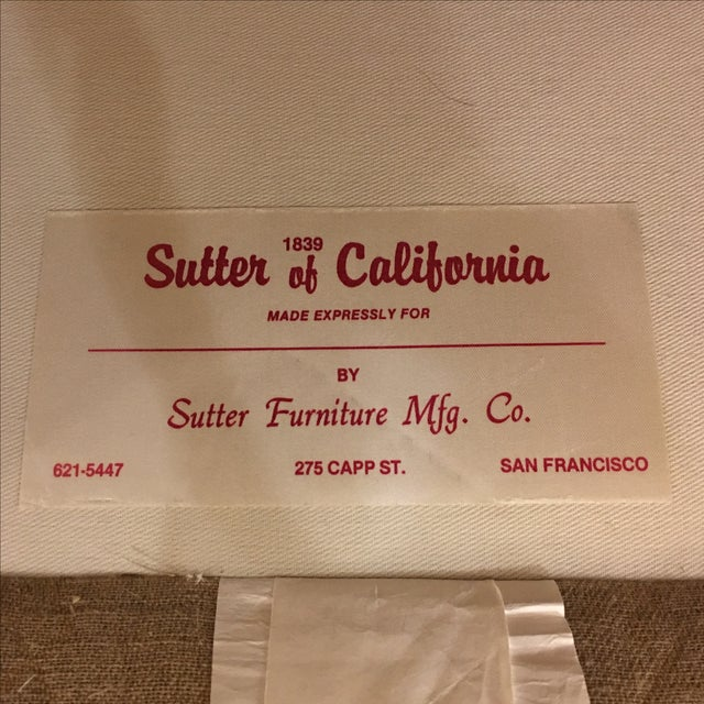 Image of Sutter of Cali Fabric Arm Chairs - A Pair