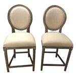 Image of Off White Hand Painted Pub Chairs - 2