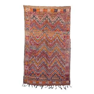 "Vintage Beni M'Guild Moroccan Rug, 5'11"" x 9'9"" feet"