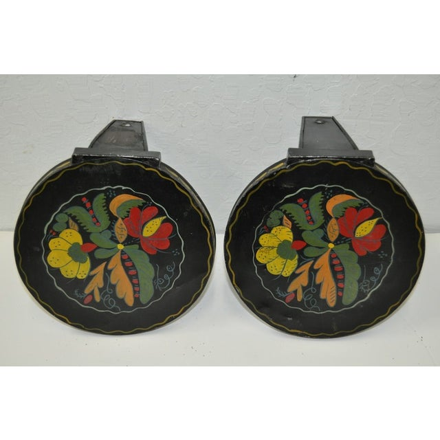 19th C. Hand Painted Candle Holders - A Pair - Image 3 of 3