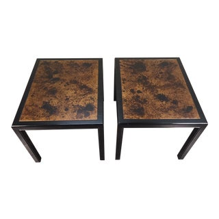 Dunbar Mid-Century Modern Parsons Style Side Tables - A Pair