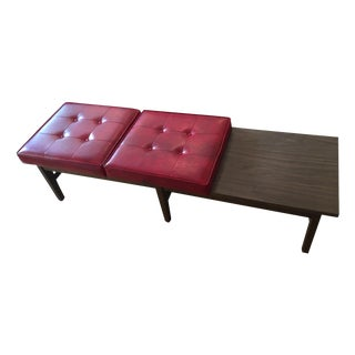 Dunbar Style Tufted Bench/Table Combo