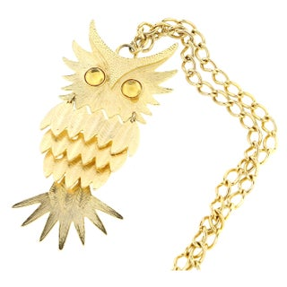 Articulating Owl Necklace