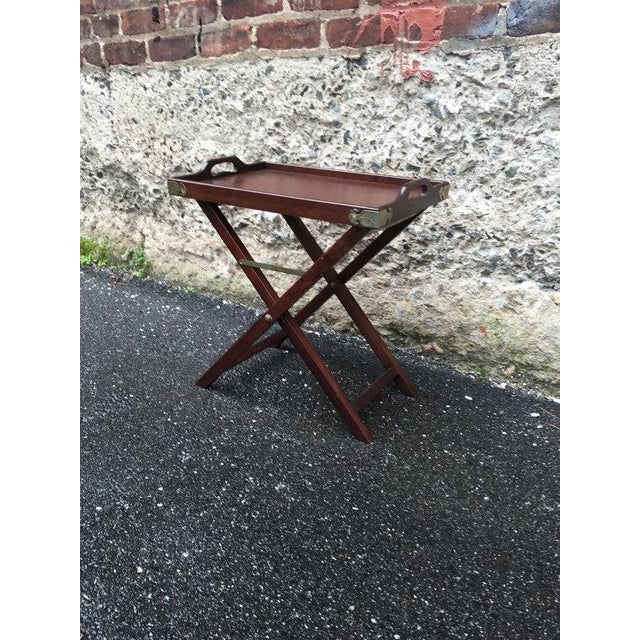 Vintage 1950s Chinoiserie Traditional Tray Table - Image 3 of 5
